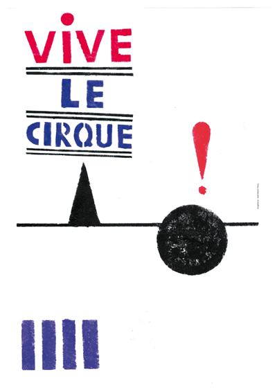 Vive le cirque! Cartel hecho con plantillas