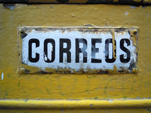 Letras gruesas, amarillo y negro