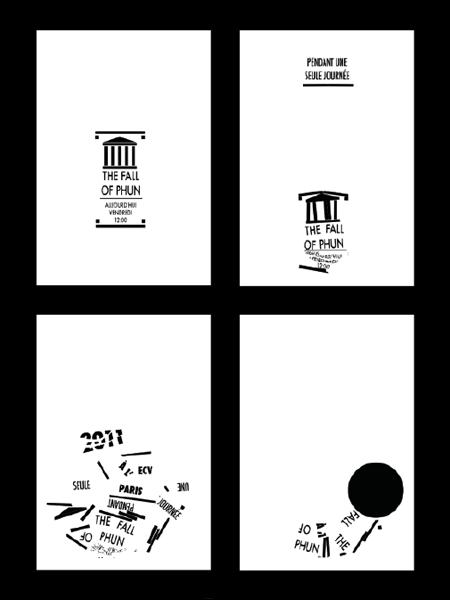 Cuatro capturas del poster animado y generativo