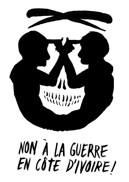 No a la guerra en Costa de Marfil