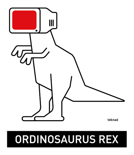Pegatina Ordinosaurus Rex