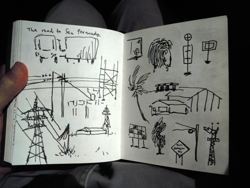Drawing in the bus