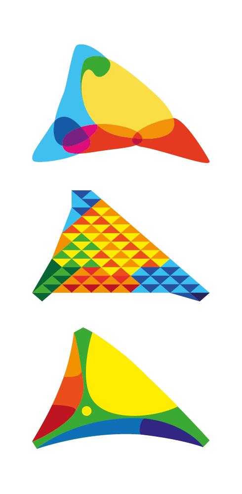 Tres versiones de un triángulo