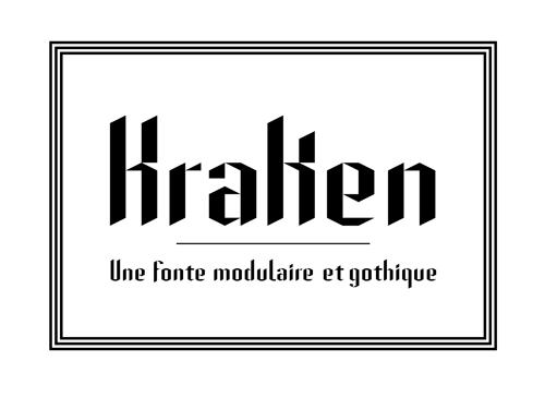 Une fonte modulaire et gothique
