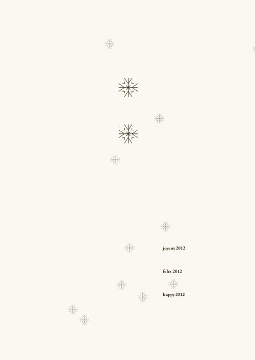 Copos de nieve en negativo