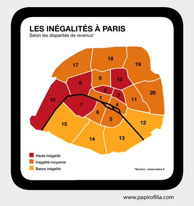 Mapa de las desigualdades de París