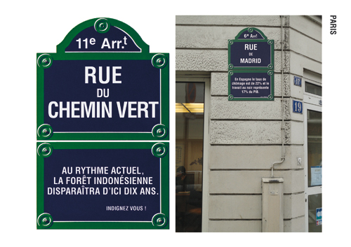 Paris - plaque et mise en situation
