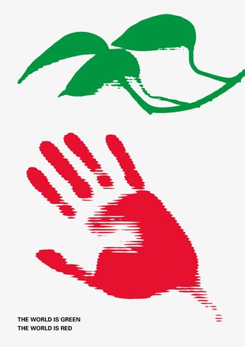 El mundo es rojo, el mundo es verde... clorofila y hemoglobina somos.