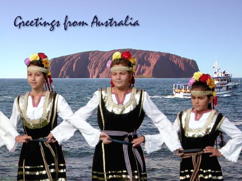 Folklore búlgaro a las orillas de Uluru