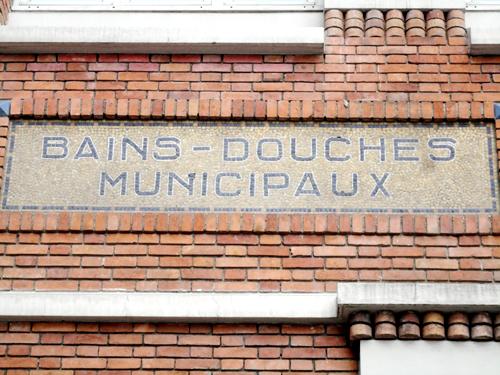 Lettres en mosa que papirofilia - Bains douches municipaux ...