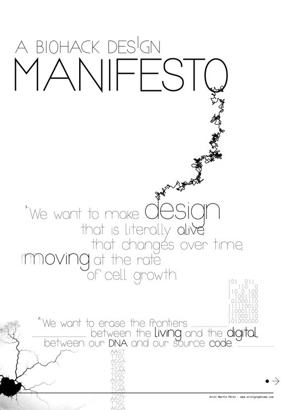 a biohack design manifesto
