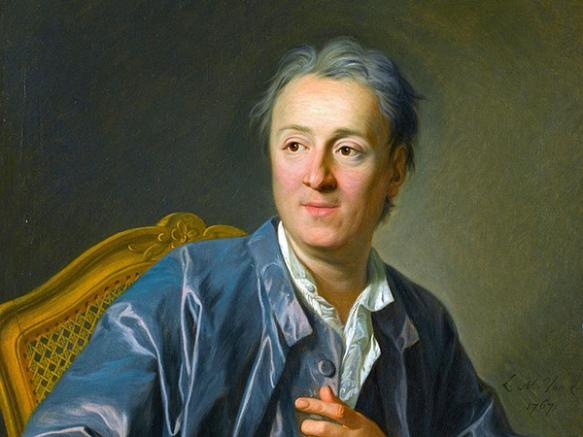 Denis Diderot, óleo de Louis-Michel Van Loo (imagen recortada). Dominio público.